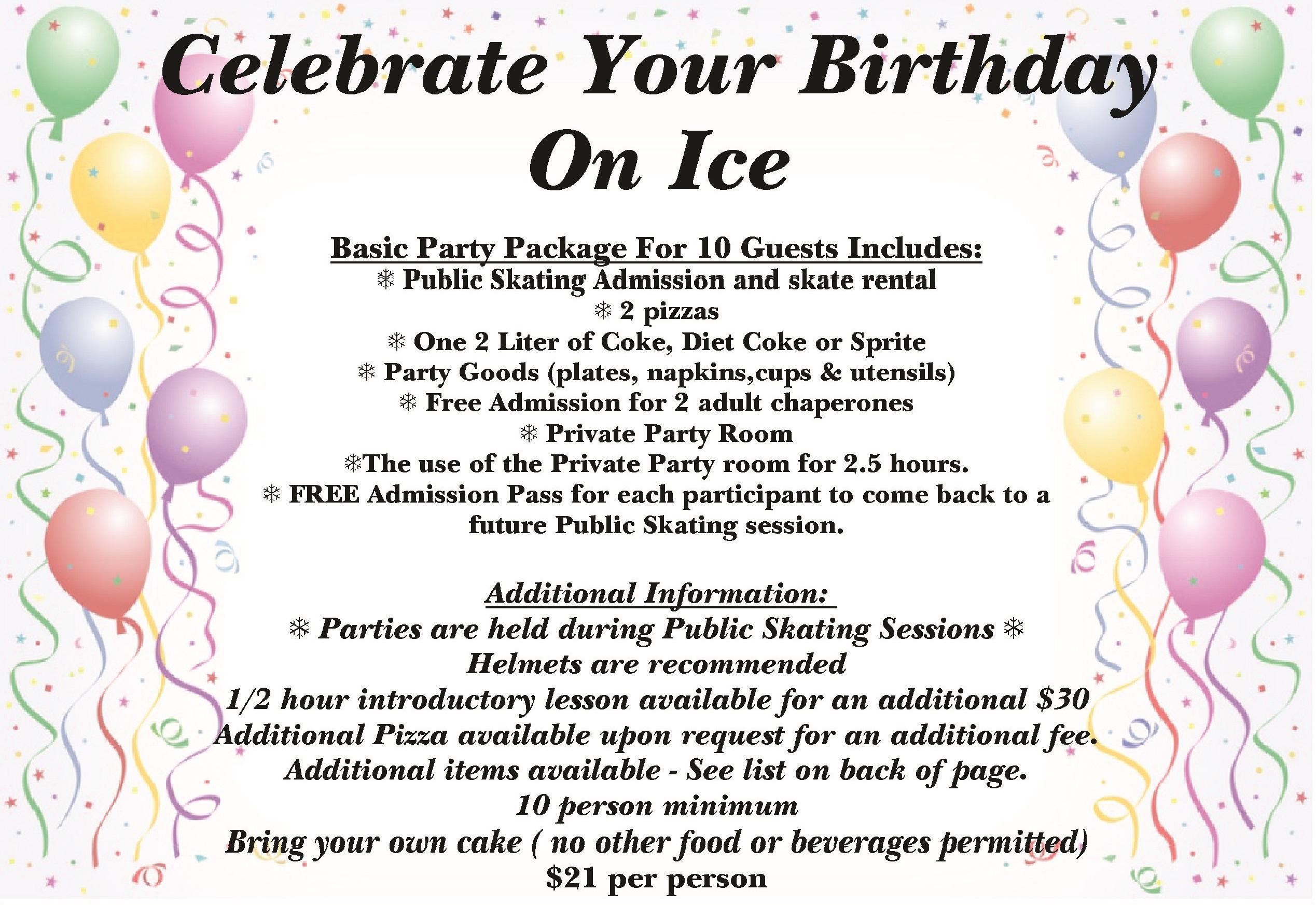 parties steel ice center