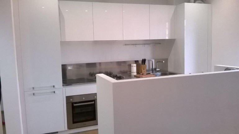 C91 Cucina a parete con isola funzionale  Cucine in