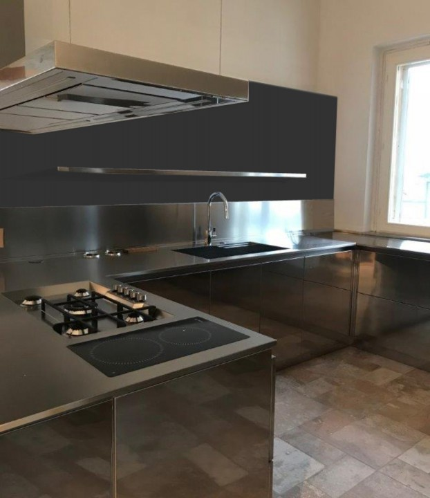 C139 cucina in acciaio inox a u  Cucine in acciaio
