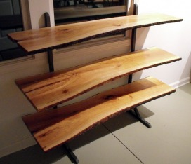 long tall sofa tables replacement parts for bed shelving - steel root furniture, modern wood and metal ...