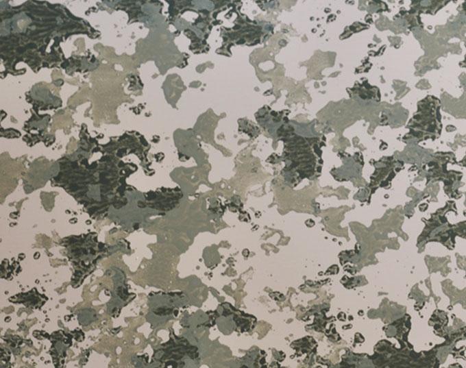 camo prints metallic coated