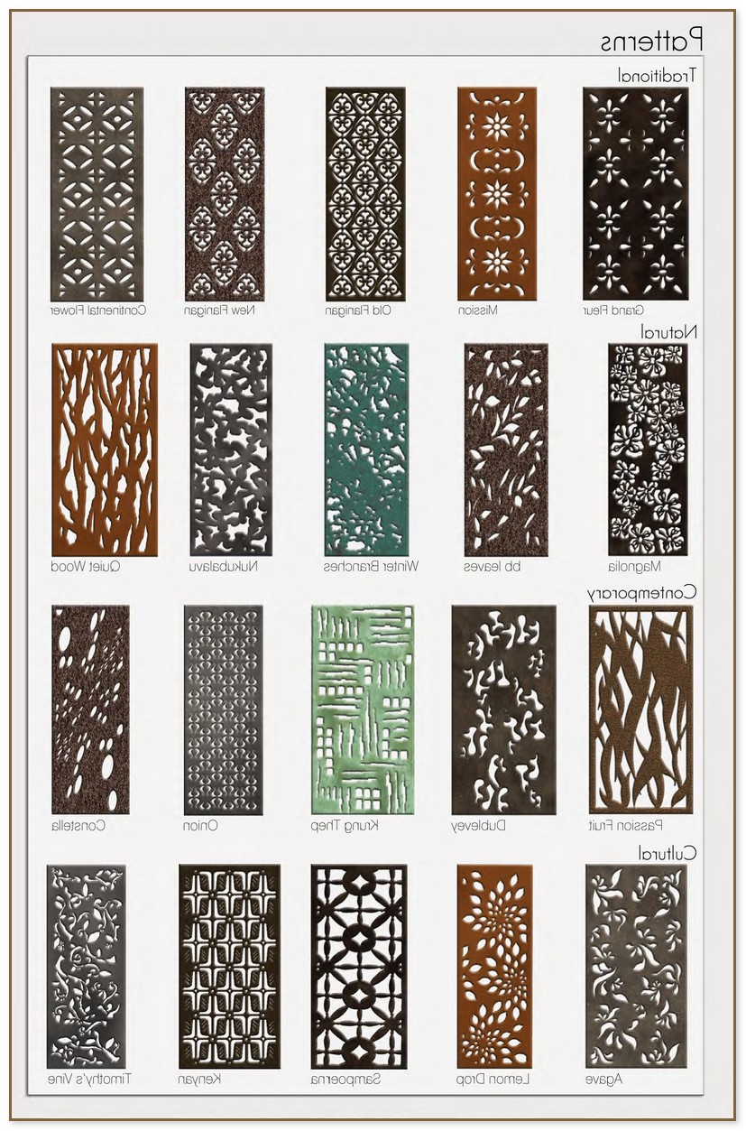 Laser Cut Metal Panels And Screens