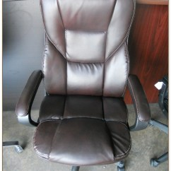 Realspace Fosner High Back Bonded Leather Chair Repair Rattan Seat Hawkins