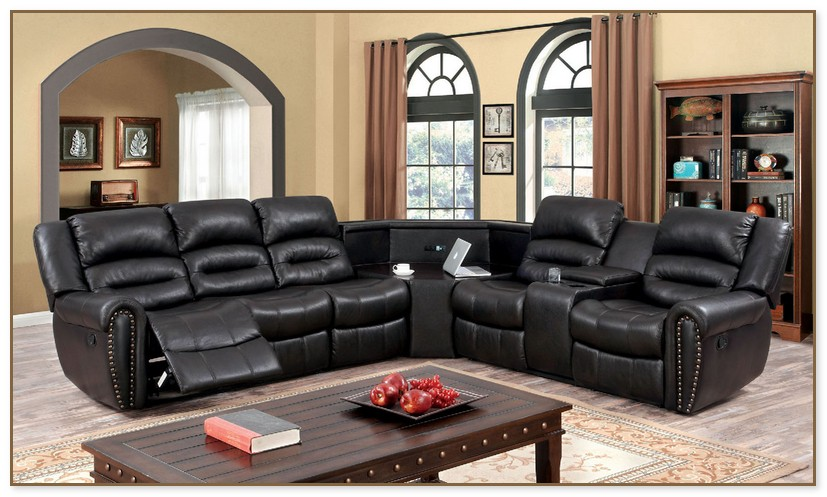 sectional sofas with recliners and cup