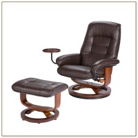 Swivel Rocker Recliner With Ottoman