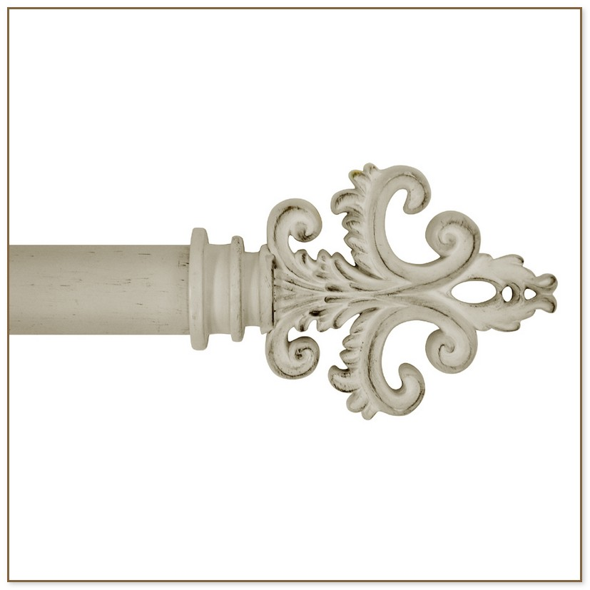Antique White Curtain Rod