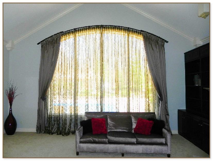 arch window curtain rod