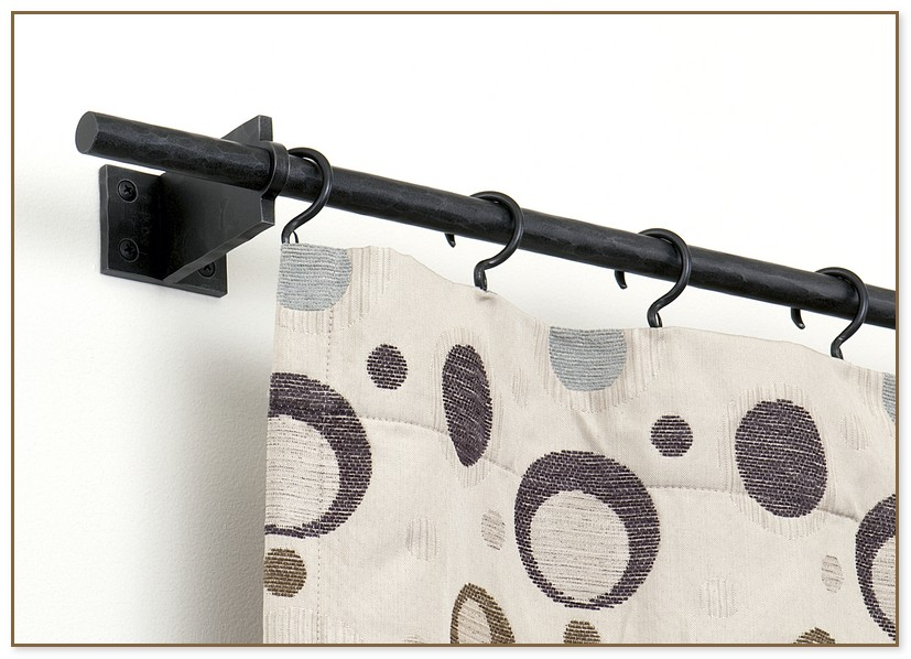 end mount curtain rod