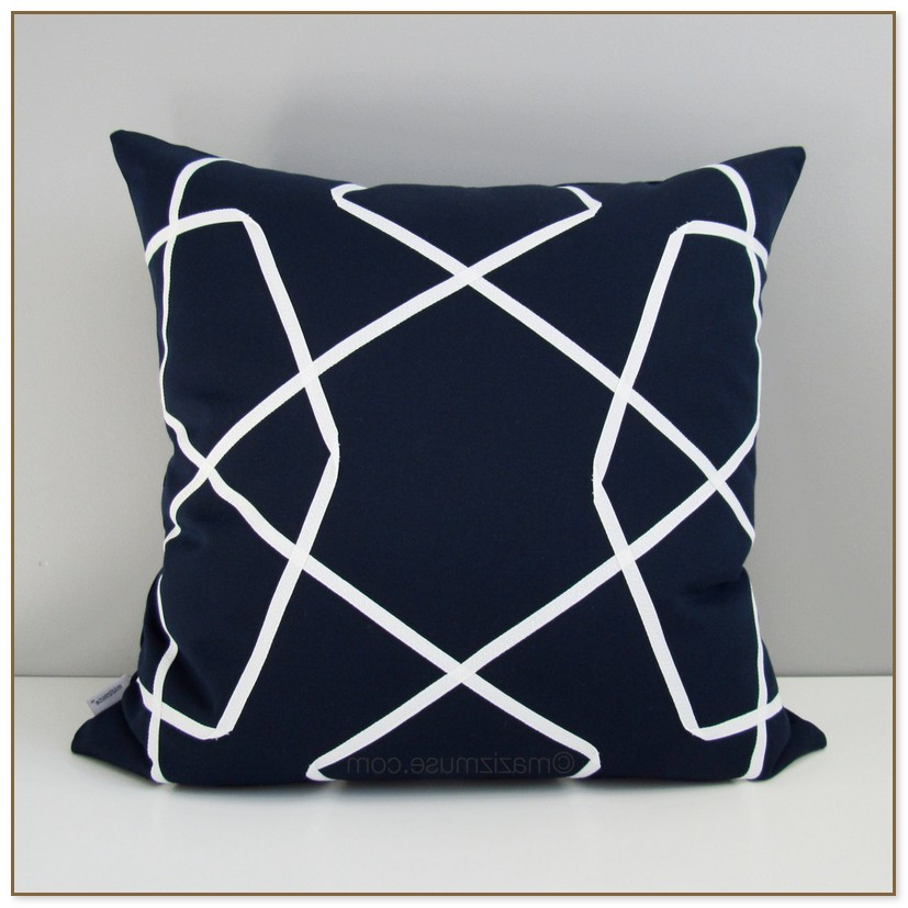 Navy Blue Outdoor Cushions