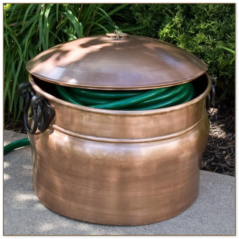 Garden Hose Pot With Lid
