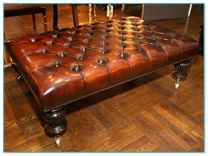 amazing rectangular leather ottoman
