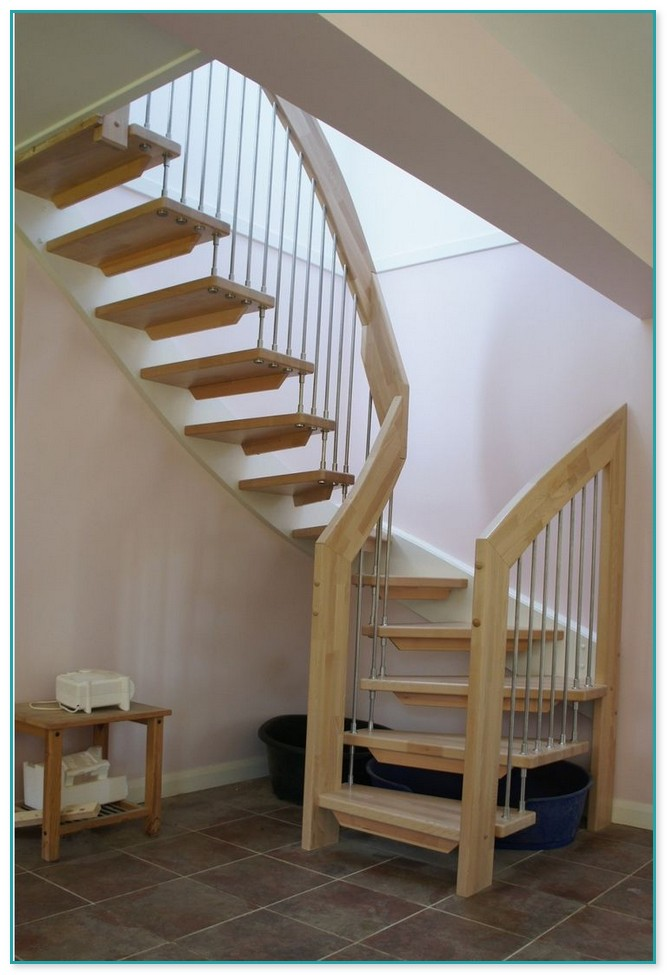 Wooden Spiral Staircase With Slide