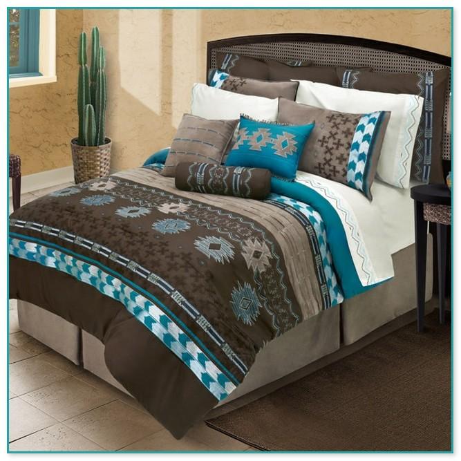 Brown And Teal Comforter Sets