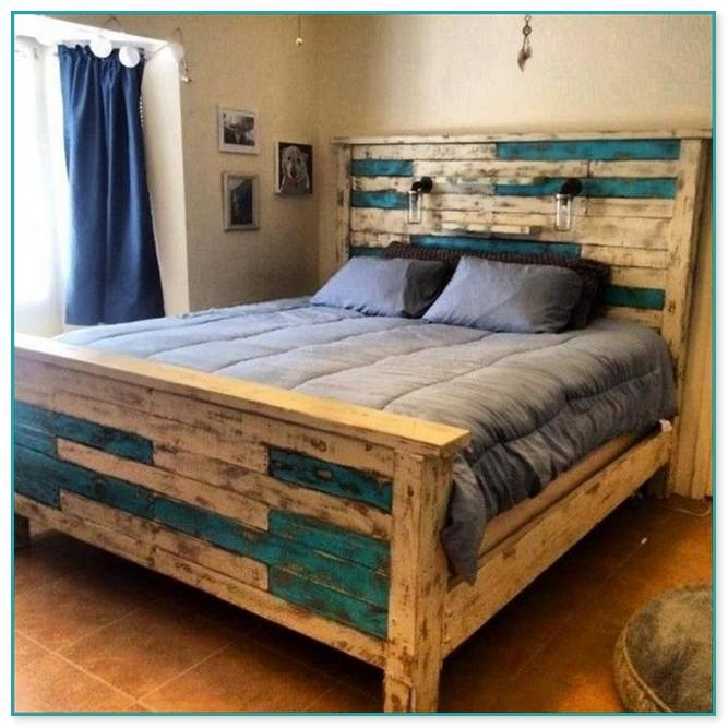 Pallet Wood Headboard And Footboard