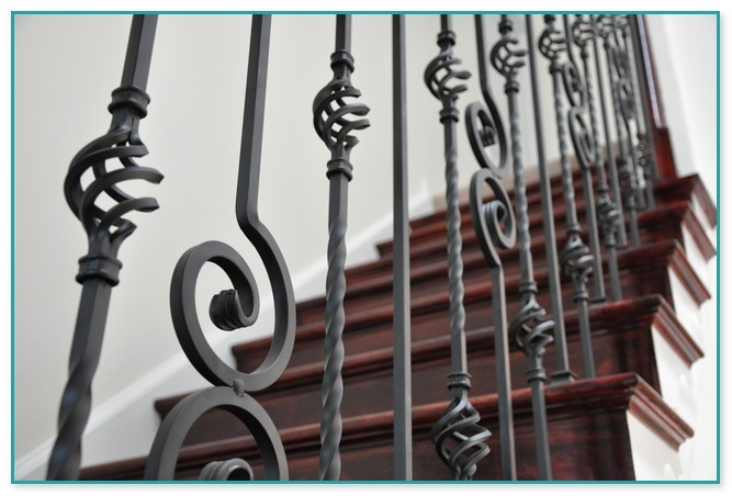 Wrought Iron Staircase Spindles Home Depot | Iron Spindles Home Depot | Ole Iron Slides | Wm Coffman | Stair Parts | Oil Rubbed | Deck