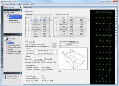X-Braced Shear Wall Design