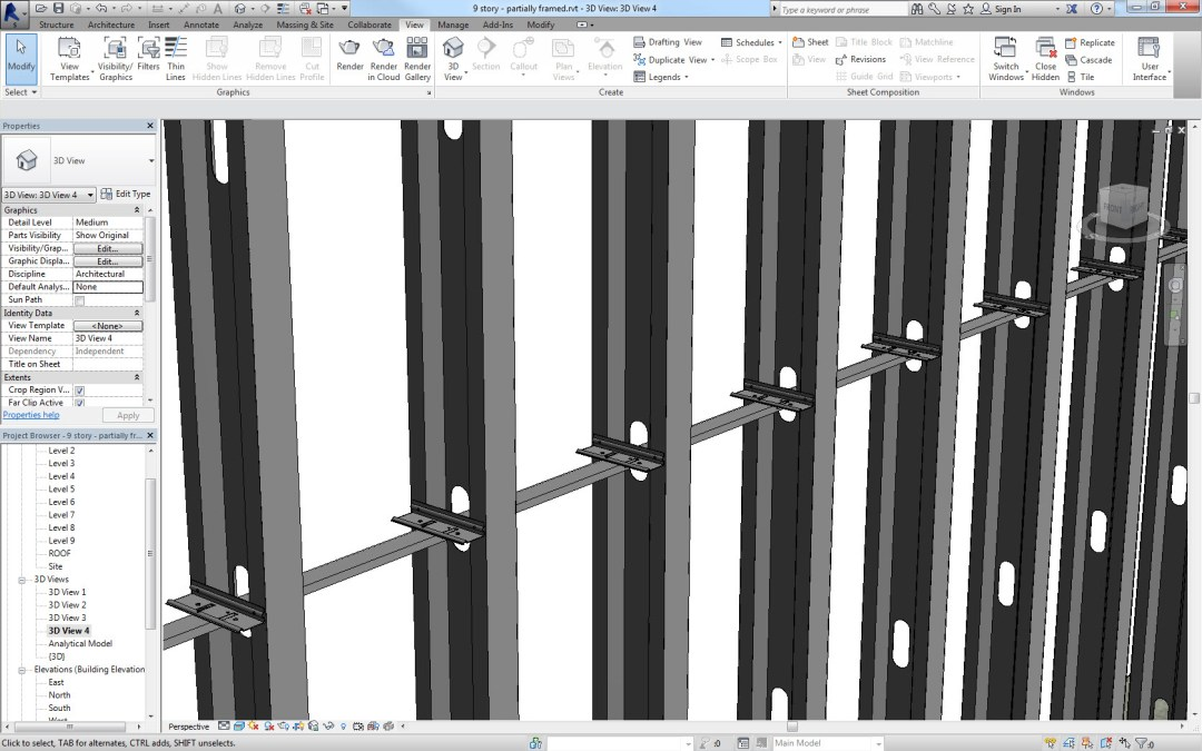 Model all bridging and bridging connectors in Revit using SteelSmart Framer software for the most accurate material takeoff's for steel stud projects.