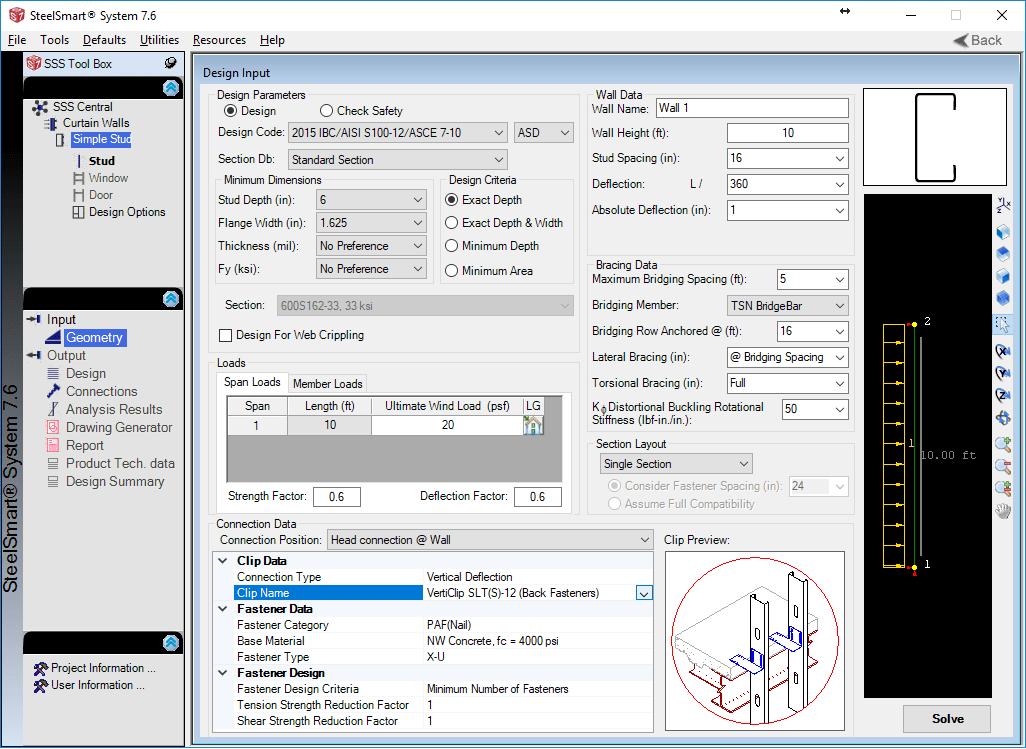 SteelSmart System 7.6 Released! - Cold Formed Steel Design Software ...