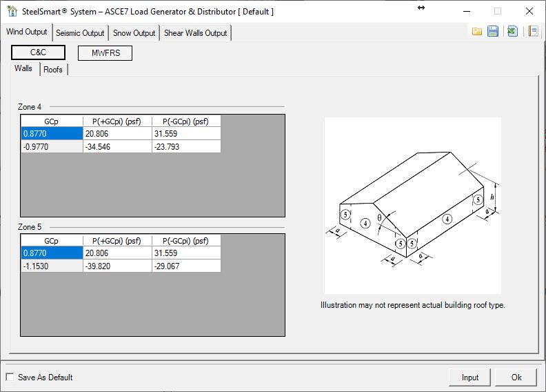 Light Steel Framing Design ASCE7 Wind Load Generator - Output