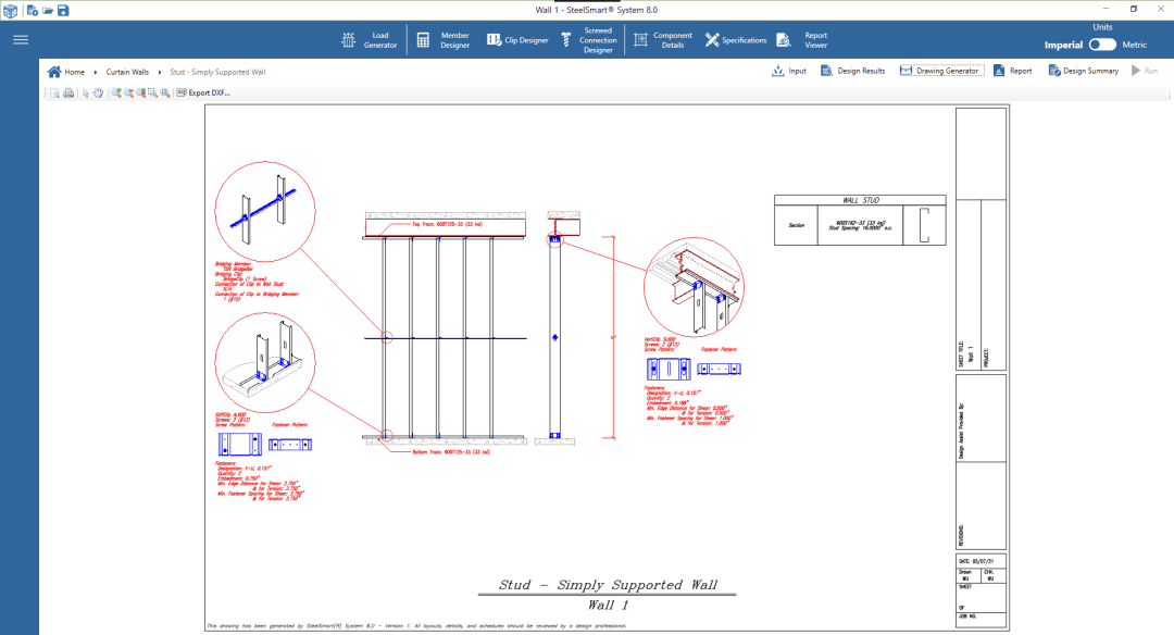 Cold-formed Steel Detail Drawing Generator