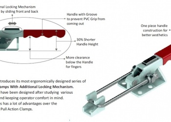 Pull action clamp with additional locking