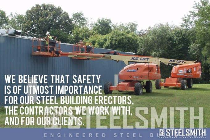 steel building site safety
