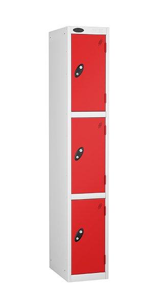 probe 3 doors steel locker red
