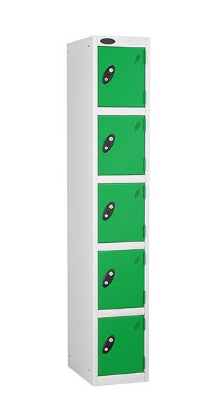 probe 5 doors steel locker green