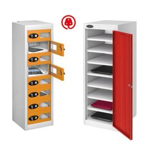 Laptop & media charging steel lockers