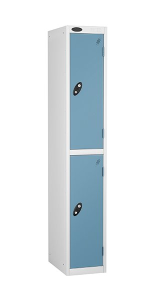 probe two door steel locker ocean blue