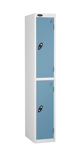 probe two door steel locker ocean blue