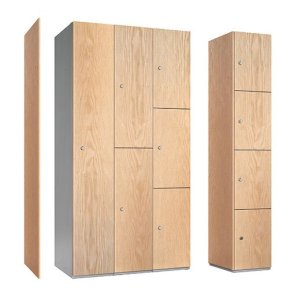 probe timber faced stylish steel lockers