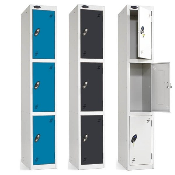 Probe steel white activecoat body with choice of door colours and locker sizes