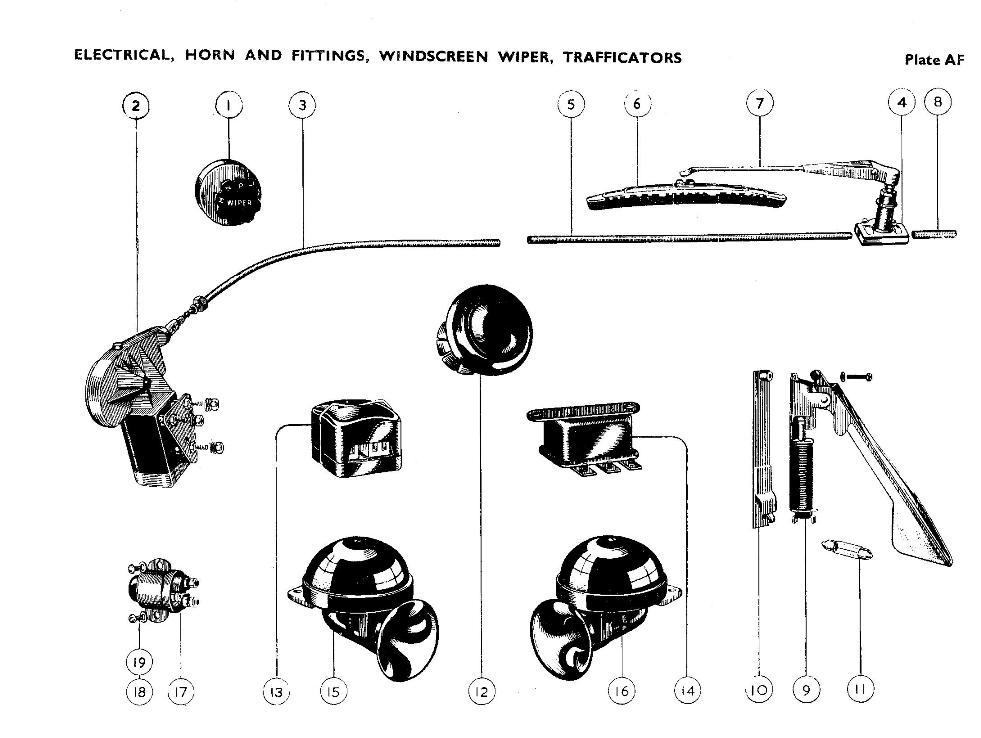 Electrical, Horn & Fittings, Windscreen Wiper