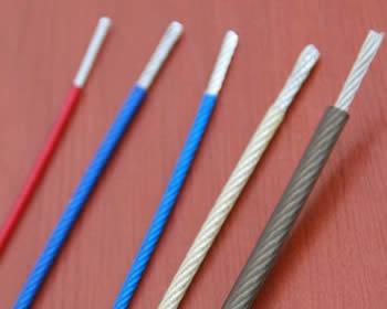 PVC Polypropylene  Nylon Coated Wire Rope