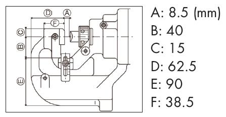 Ogura 20 x 8 mm Corded Double-Acting Hydraulic Hole