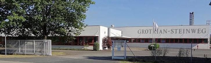 Huidige fabriek van Grotrian-Steinweg in Braunschweig