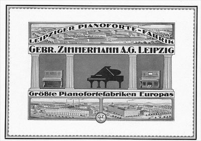 Zimmermann piano's en vleugels pamflet