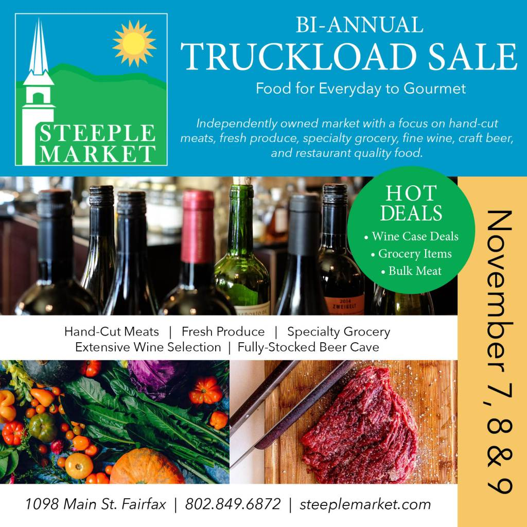 Steeple Market Truckload Sale November 2019