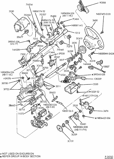 2003 Ford Focus Steering Column Diagram, 2003, Free Engine