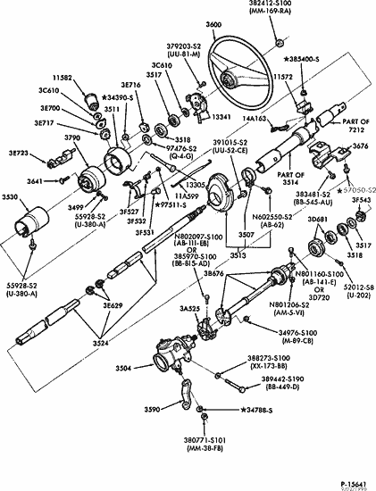 1990 ford f 150 steering column diagram