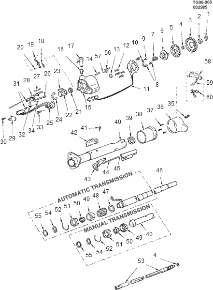 Steering Column Diagram