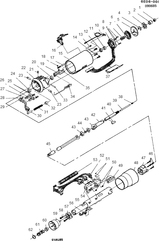 exploded view for the 1986 Cadillac Eldorado Telescopic