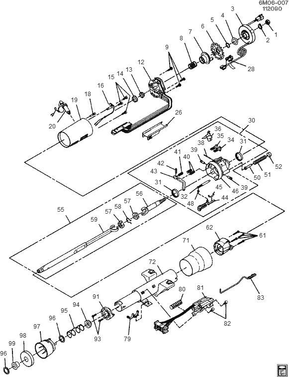 Cadillac column parts