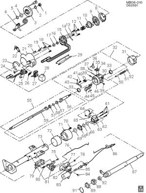 exploded view for the 1993 Chevrolet Caprice Tilt