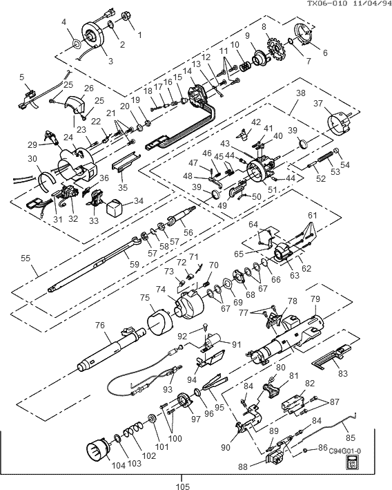 Service manual [1994 Subaru Justy Tilt Steering Column