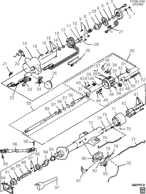 1993 chevy steering diagram