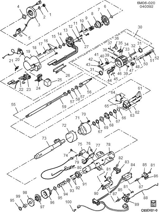 [1994 Cadillac Eldorado Tilt Steering Column Repair