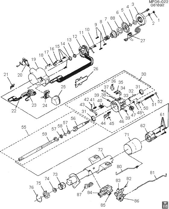 1991 chevy steering column diagram