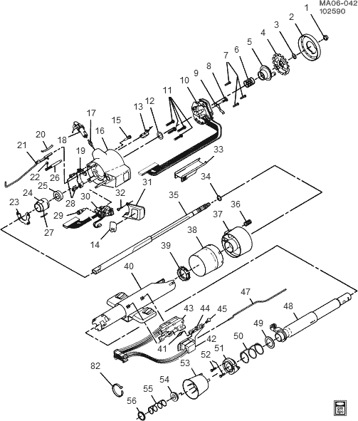 Diagram Of A Non Tilt Steering Column For A Gm.html